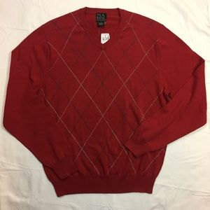 NWT Jos. A. Bank argyle cotton sweater small